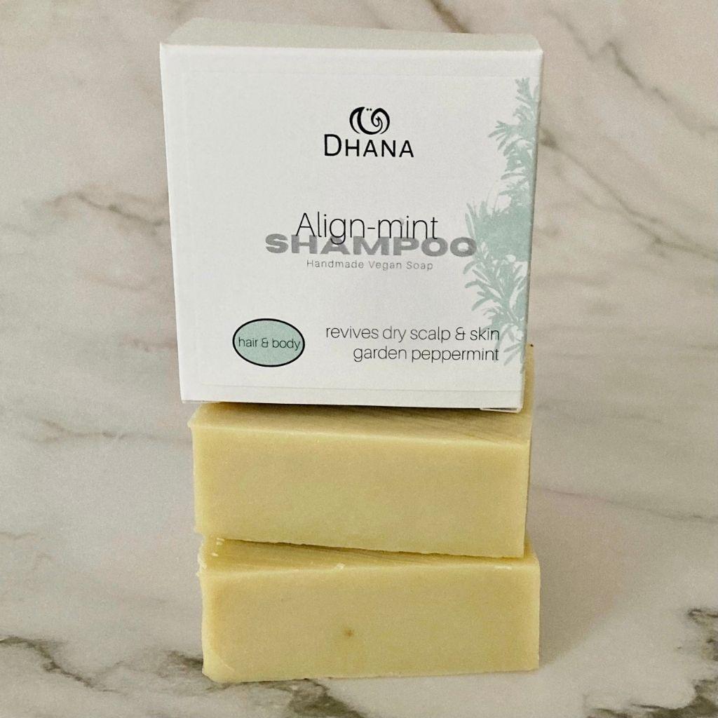 Align-mint shampoo and body bar
