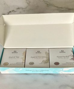 Tea Lover's Soap Collection: three packaged bars of soap in a larger turquoise box