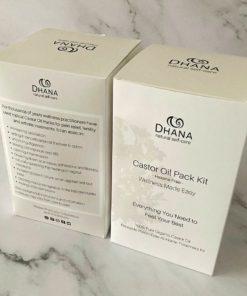 Dhana Castor Oil Pack Kit Essentials upc- RTS01C